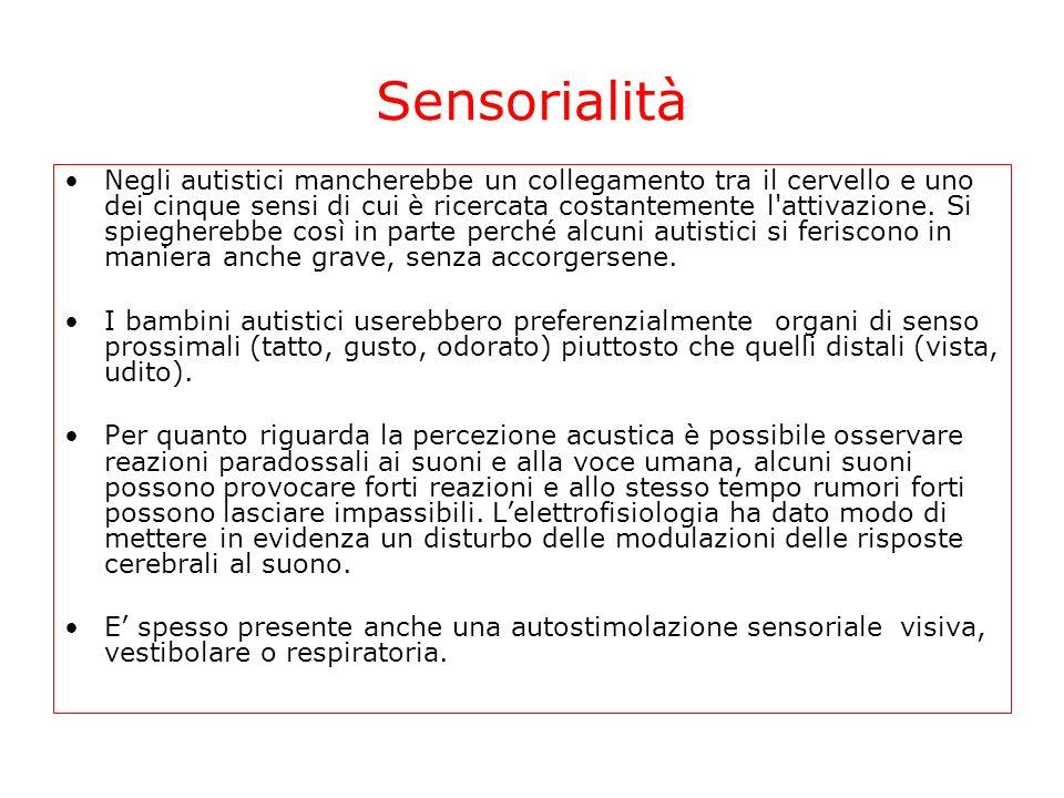 Sensorialità Assenza Freq.rara Alquanto freq. Freq.