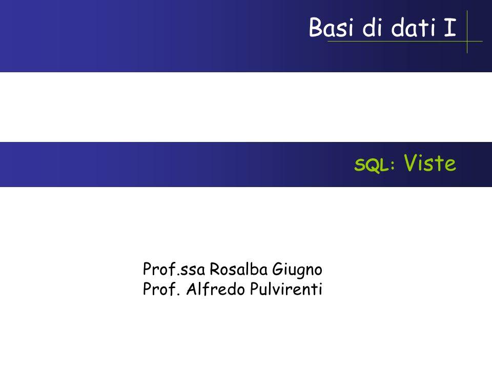 Giugno-Pulvirenti AA 2005-2006 Esempio Riassuntivo CREATE TABLE Ordini( NumOrdine CHAR(3) NOT NULL, CodiceCliente CHAR(3) NOT NULL, CodiceAgente CHAR(