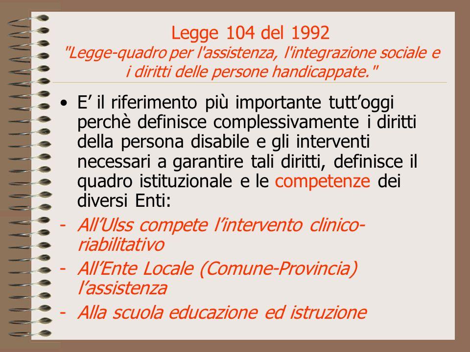 Legge 104 del 1992