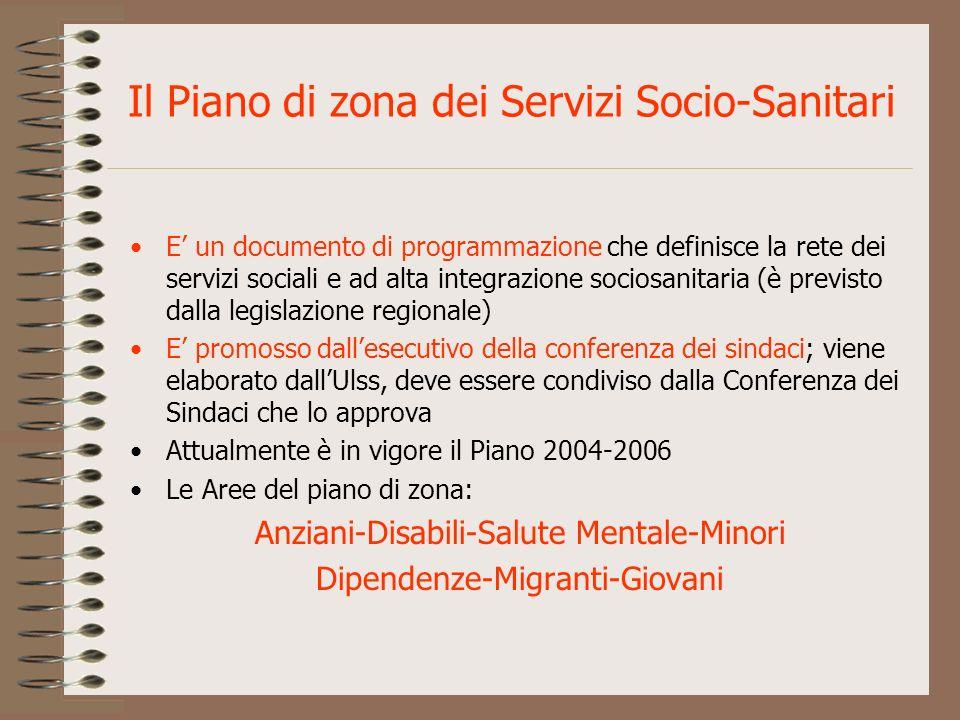 Il Piano di zona dei Servizi Socio-Sanitari E un documento di programmazione che definisce la rete dei servizi sociali e ad alta integrazione sociosan