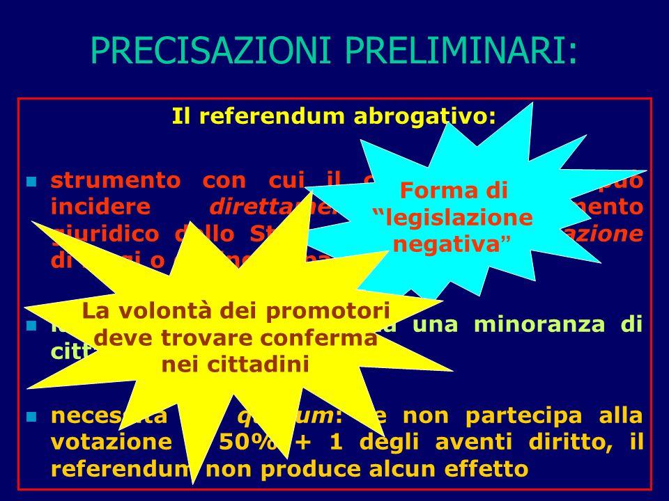 4°: FECONDAZIONE ETEROLOGA Testo del quesito referendario (cont.): Volete voi che sia abrogata la legge 19 febbraio 2004, n.