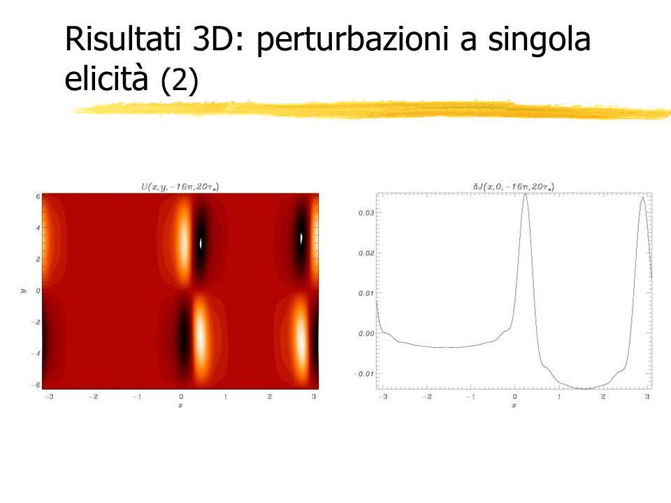 Risultati 3D: perturbazioni a singola elicità (2)