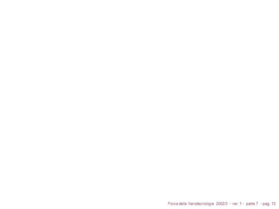 Fisica delle Nanotecnologie 2002/3 - ver. 1 - parte 7 - pag. 13