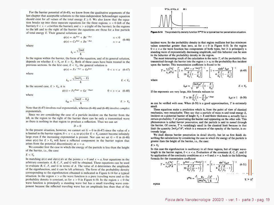 Fisica delle Nanotecnologie 2002/3 - ver. 1 - parte 3 - pag. 19