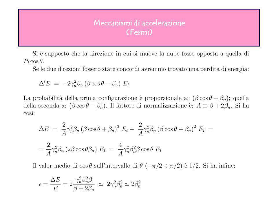 Meccanismi di accelerazione (Fermi)
