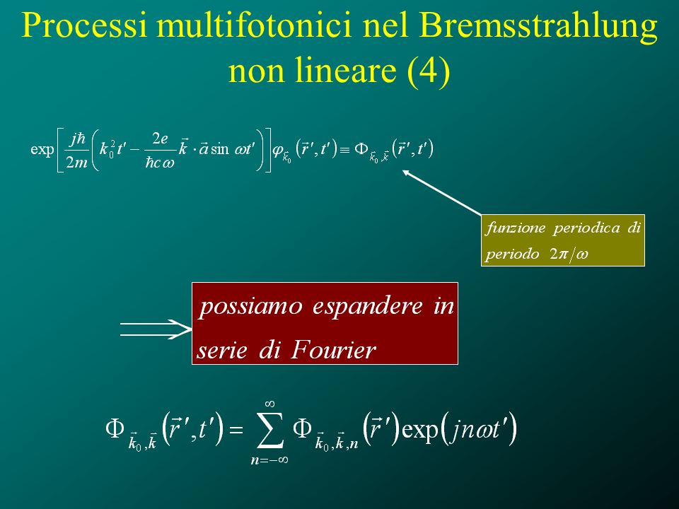 Processi multifotonici nel Bremsstrahlung non lineare (4)