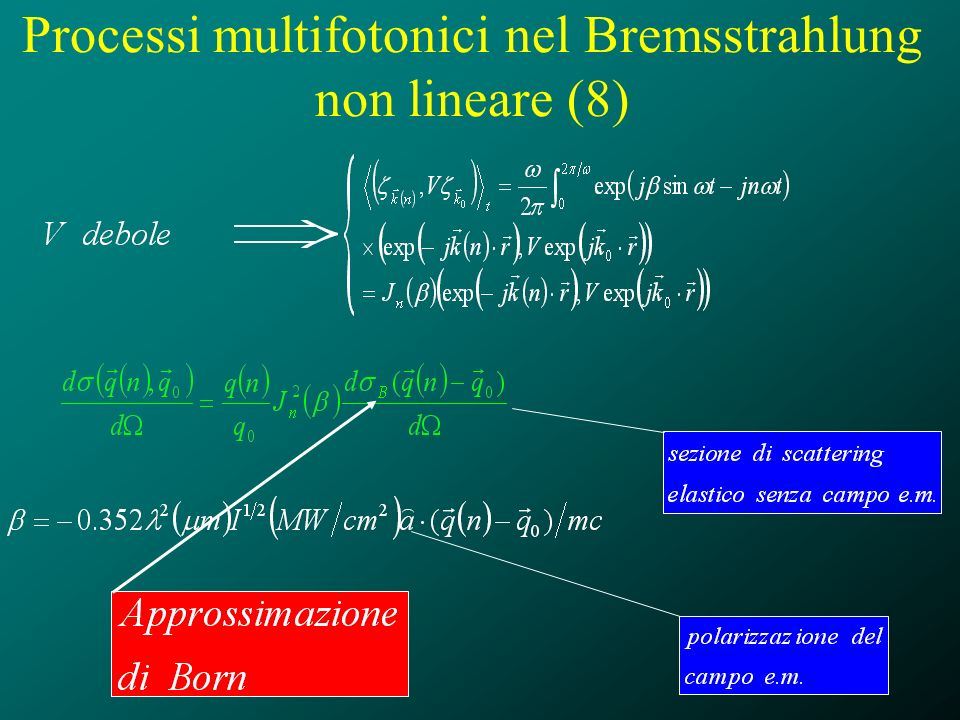 Processi multifotonici nel Bremsstrahlung non lineare (8)