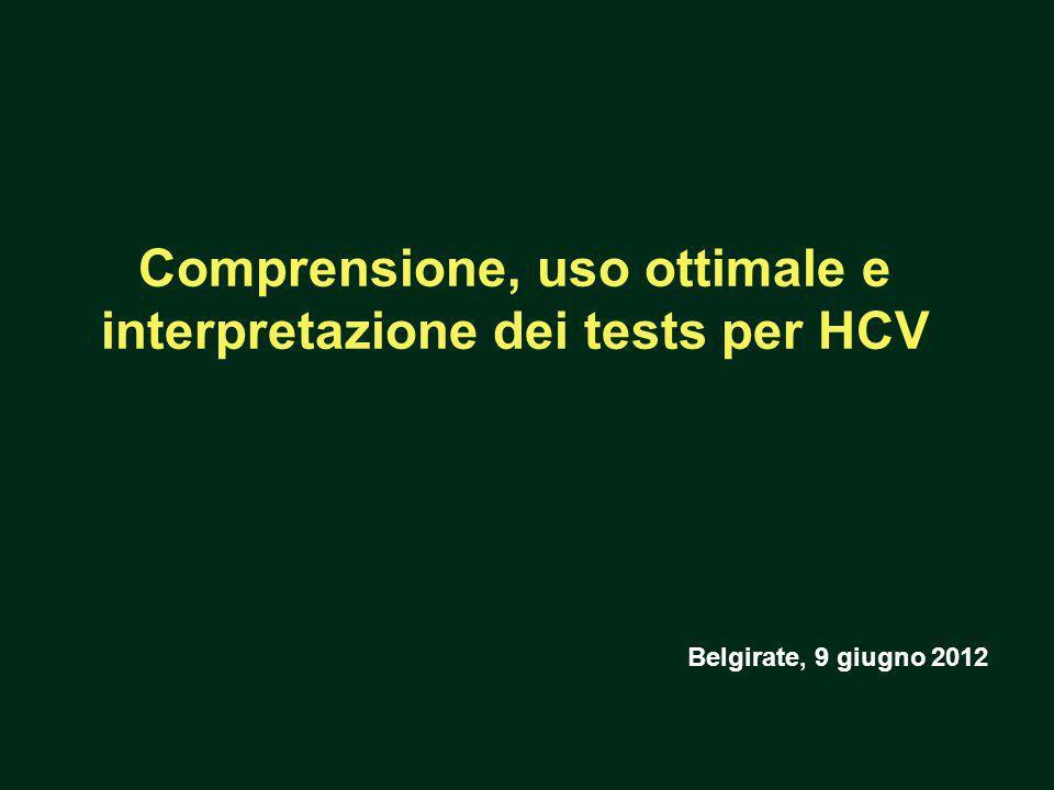 Comprensione, uso ottimale e interpretazione dei tests per HCV Belgirate, 9 giugno 2012