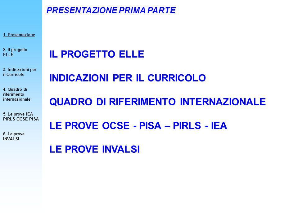 Misurare o Valutare.1. Presentazione 2. Il progetto ELLE 3.