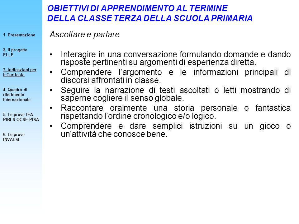 PROCESSI COGNITIVI 1.Presentazione 2. Contenuti della Prova INVALSI 3.