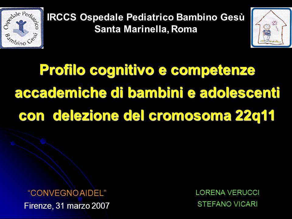 Livello cognitivo: - Il QI è variabile con unincidenza di RM del 45% - Il RM è nella maggior parte dei casi mediolieve.