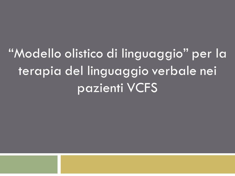 Modello olistico di linguaggio per la terapia del linguaggio verbale nei pazienti VCFS