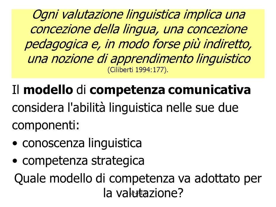 S7-P4.1 Ogni valutazione linguistica implica una concezione della lingua, una concezione pedagogica e, in modo forse più indiretto, una nozione di app