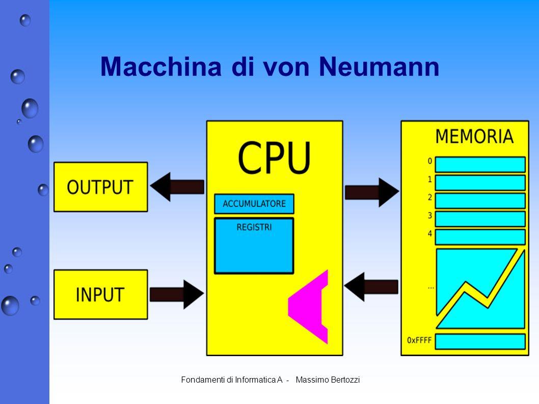 Fondamenti di Informatica A - Massimo Bertozzi Macchina di von Neumann
