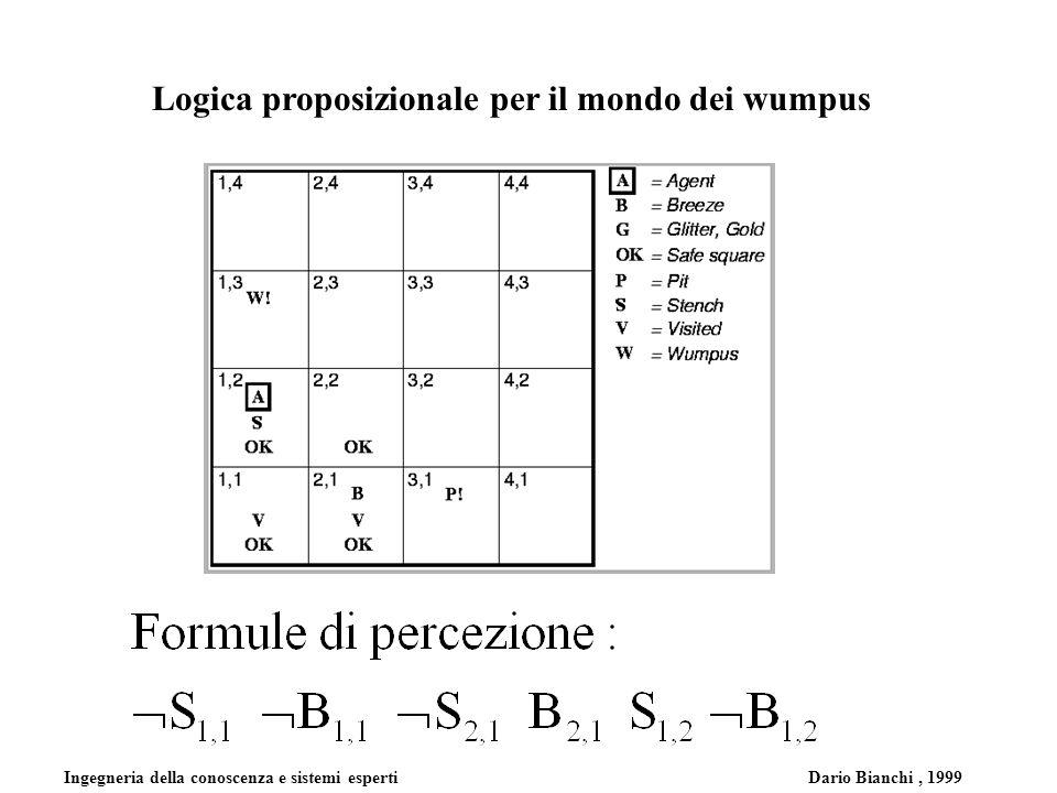 Ingegneria della conoscenza e sistemi esperti Dario Bianchi, 1999 Logica proposizionale per il mondo dei wumpus