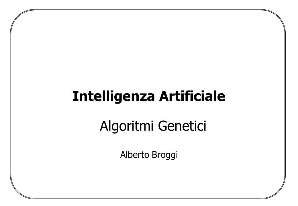 Algoritmi Genetici Alberto Broggi Problema della rappresentazione Numeri –Interi (da 0 a 2 n -1, da K a K+N, da 0 a M con M 2 n -1) –Reali Elementi appartenenti ad insiemi limitati Vettori di parametri o numeri