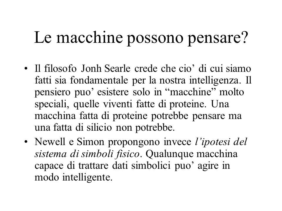 Ingegneria della conoscenza e sistemi esperti Dario Bianchi 1999 Un agente con obiettivi espliciti.