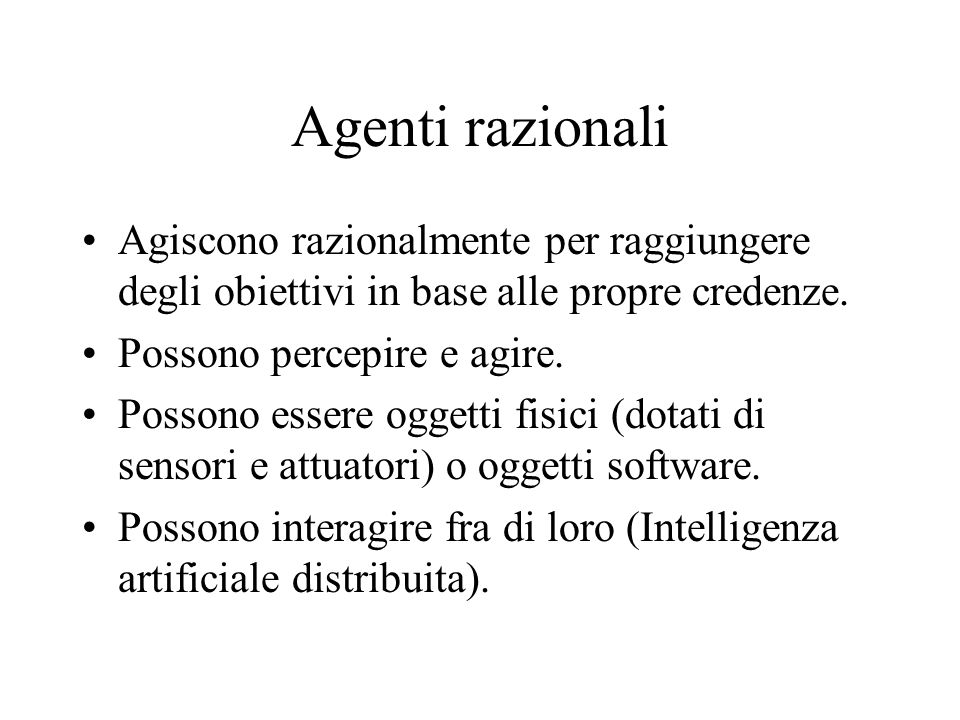 Ingegneria della conoscenza e sistemi esperti Agenti intelligenti Dario Bianchi 1999 Un agente basato su una tabella di consultazione.