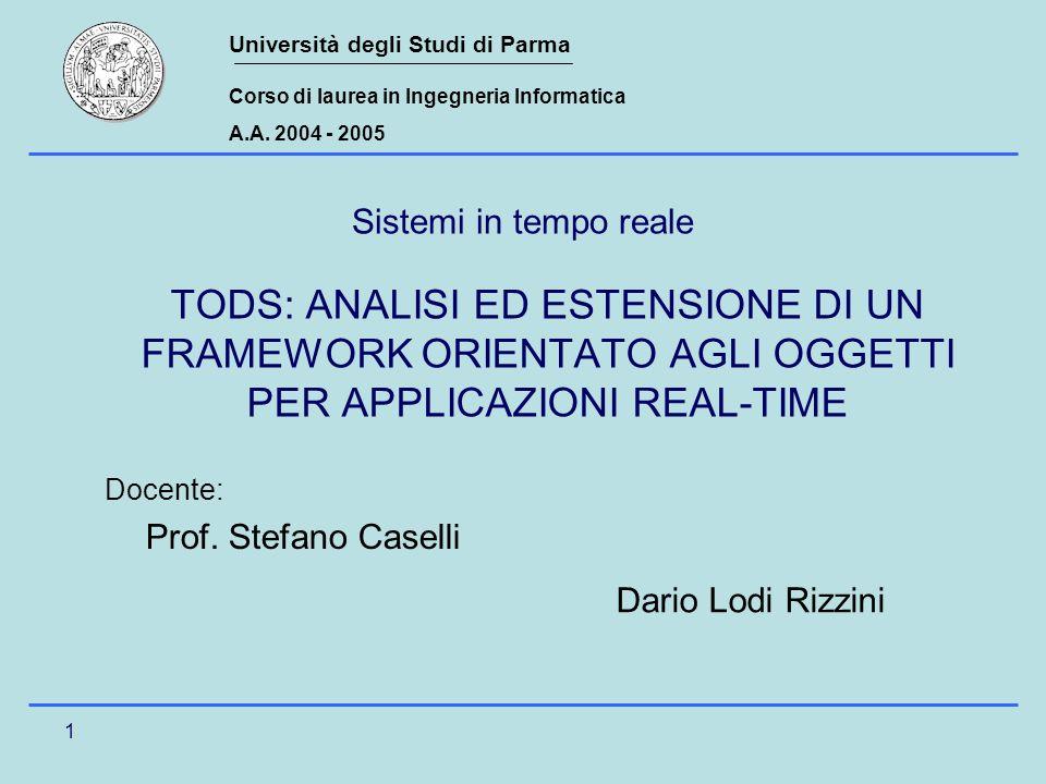 Università degli Studi di Parma Corso di laurea in Ingegneria Informatica A.A.