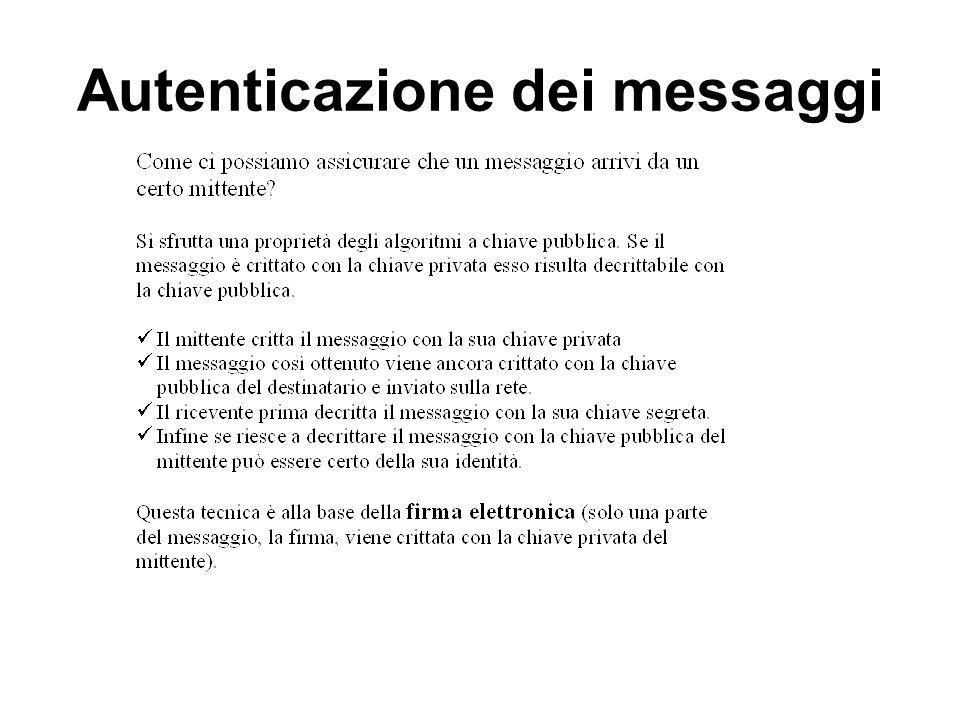 Autenticazione dei messaggi