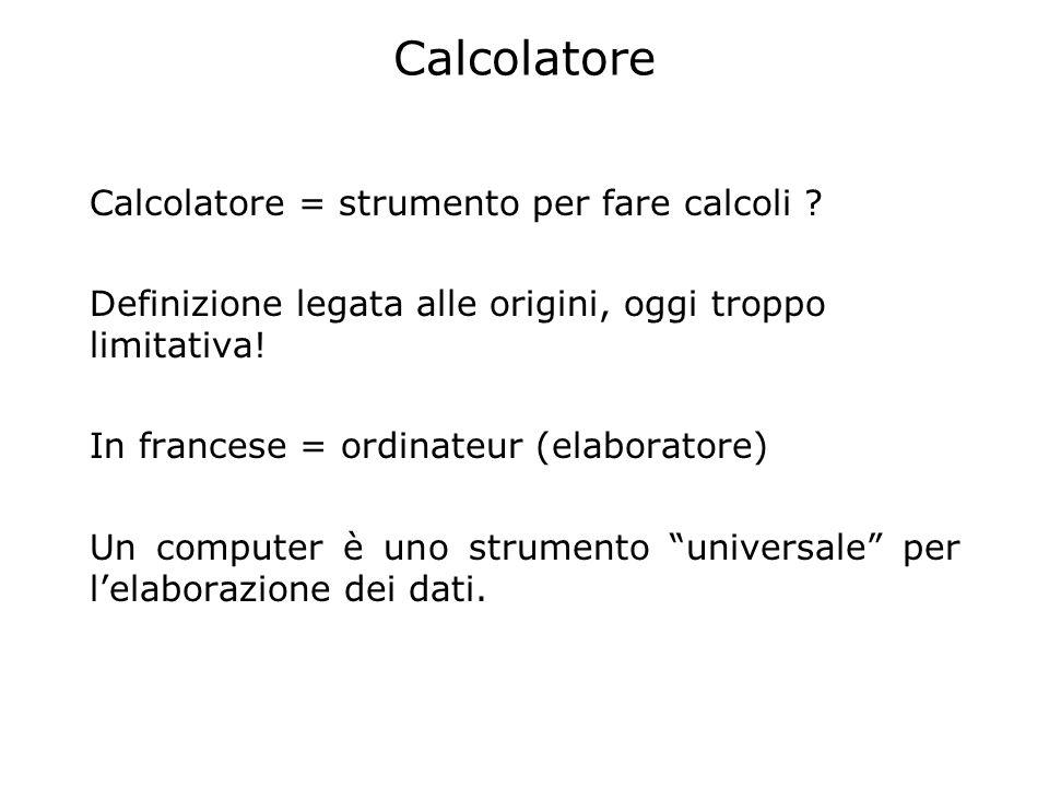 Tipi di dati Dati numerici (interi e reali) Dati simbolici (codifica di concetti o simboli: es.