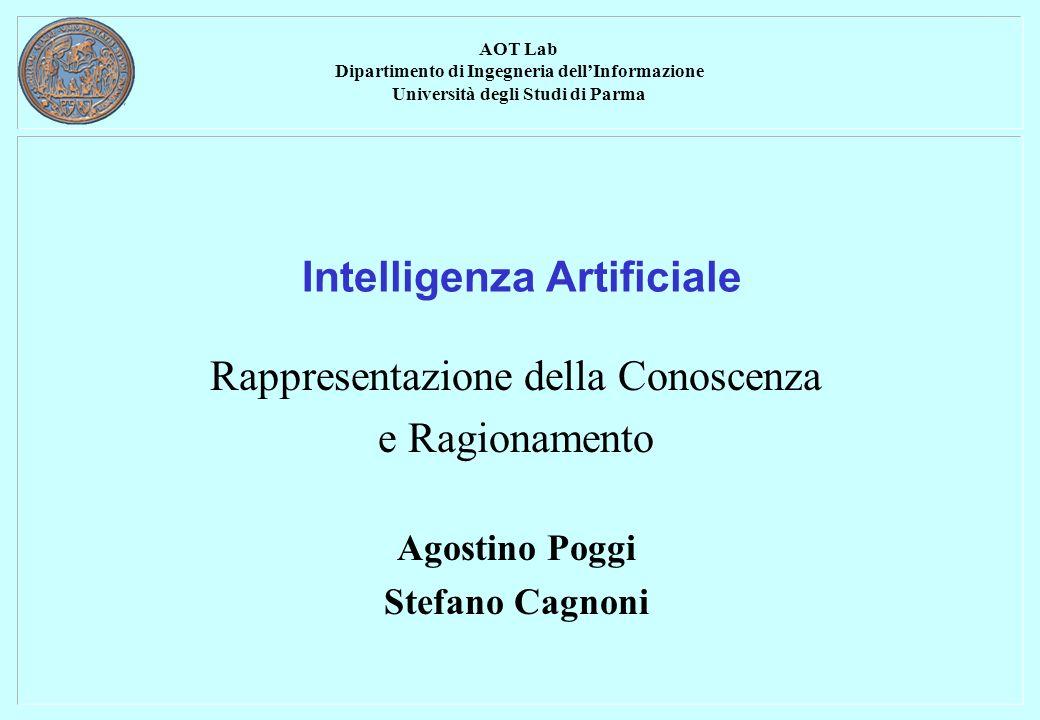 Rappresentazione della Conoscenza e Ragionamento 2 Rappresentazione della conoscenza Per risolvere qualsiasi tipo di problema di IA dobbiamo: Definire la conoscenza riguardante il problema.