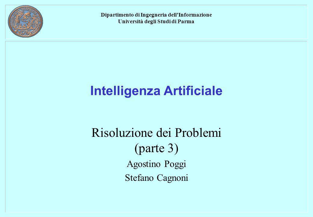 Dipartimento di Ingegneria dellInformazione Università degli Studi di Parma Intelligenza Artificiale Risoluzione dei Problemi (parte 3) Agostino Poggi Stefano Cagnoni