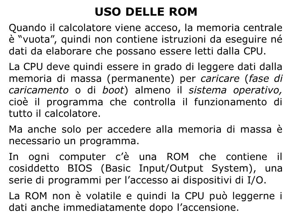 PARAMETRI CARATTERISTICI Costo Lettore/MasterizzatoreDisco Floppy150.5 Euro CD-ROM30/<100<1 Euro CD-RW 2 Euro DVD-ROM50/200+5-10 Euro Hard Disk 100 - 500+ Euro PenDrive (da 64 Mb in su) 50 - 500 Euro Dal rapporto fra costo e capacità si può ricavare il costo per Mbyte, parametro che dà unidea del costo di un archivio di backup (salvataggio dati).
