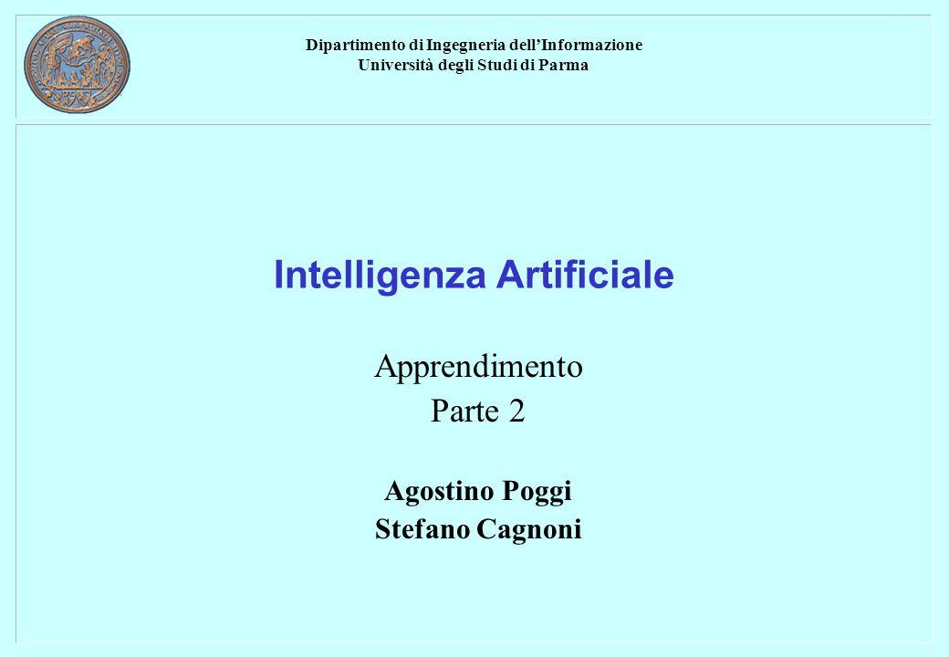 Dipartimento di Ingegneria dellInformazione Università degli Studi di Parma Intelligenza Artificiale Apprendimento Parte 2 Agostino Poggi Stefano Cagnoni