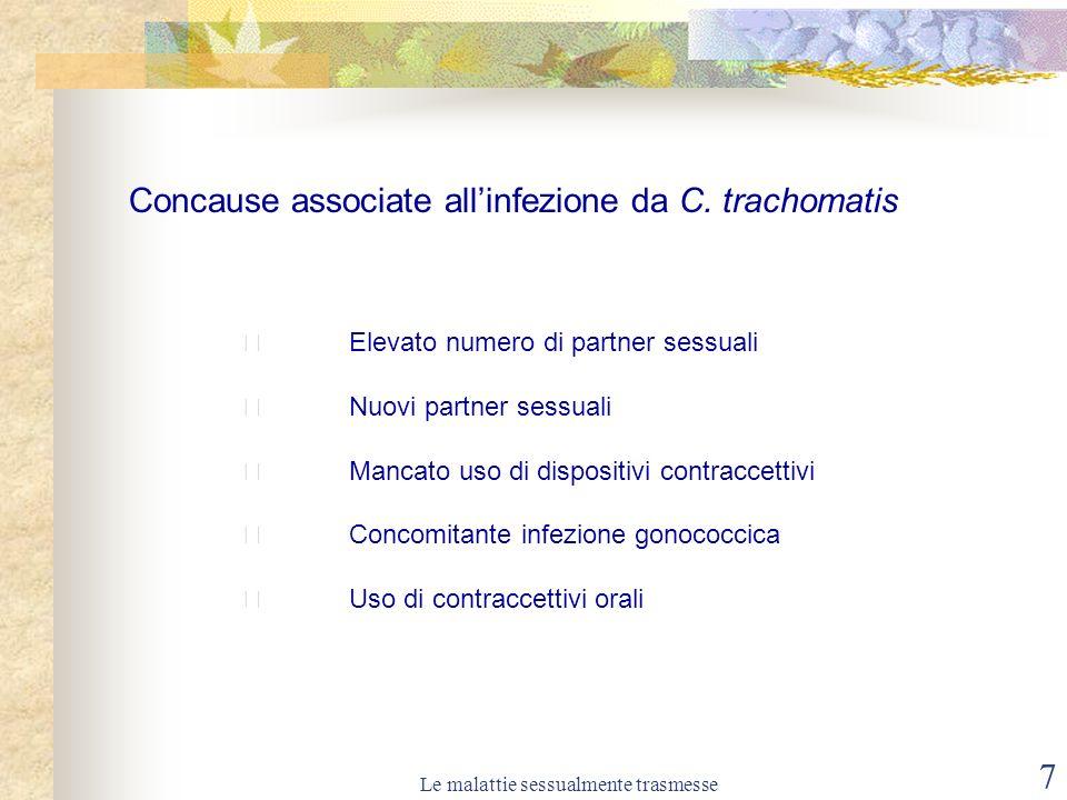 Le malattie sessualmente trasmesse 7 Concause associate allinfezione da C.