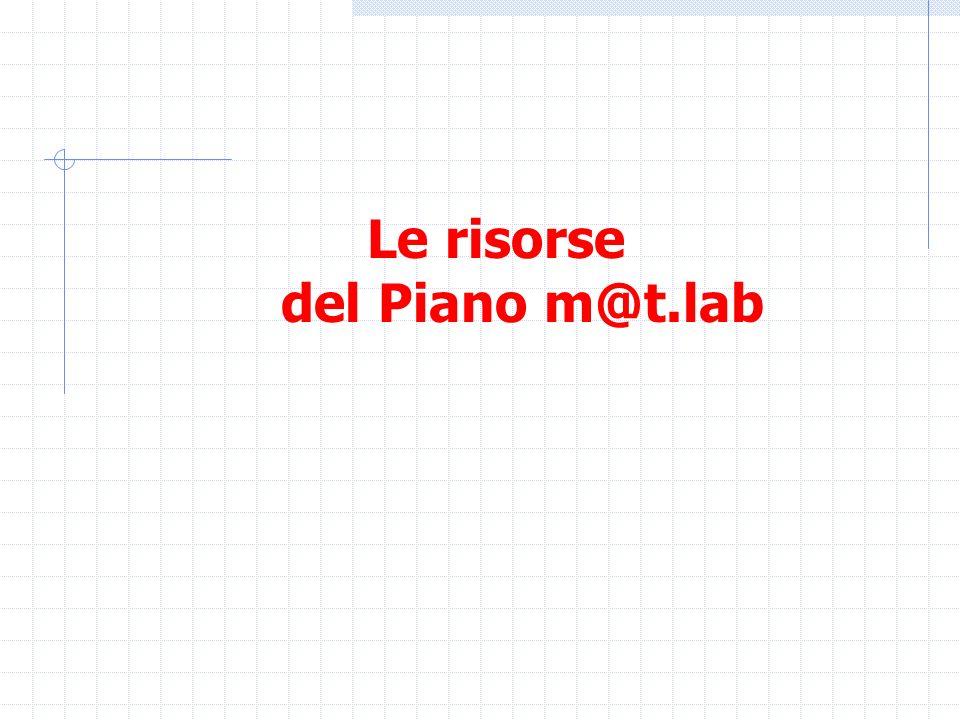Le risorse del Piano m@t.lab