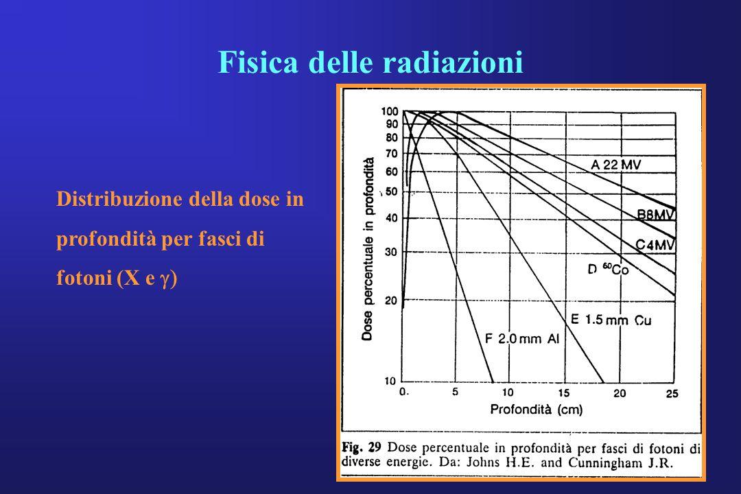 Distribuzione della dose in profondità per fasci di fotoni (X e
