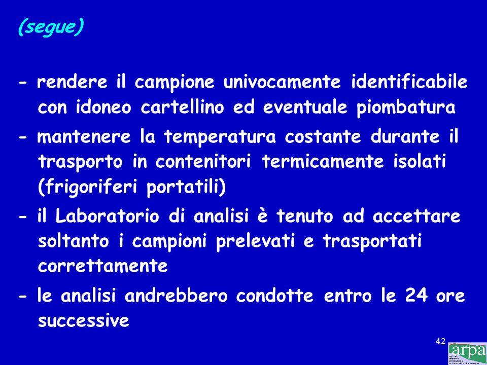 41 Le operazioni da compiere successivamente sono le seguenti: - registrare la temperatura del locale, del frigorifero o dell'apparecchiatura per la c