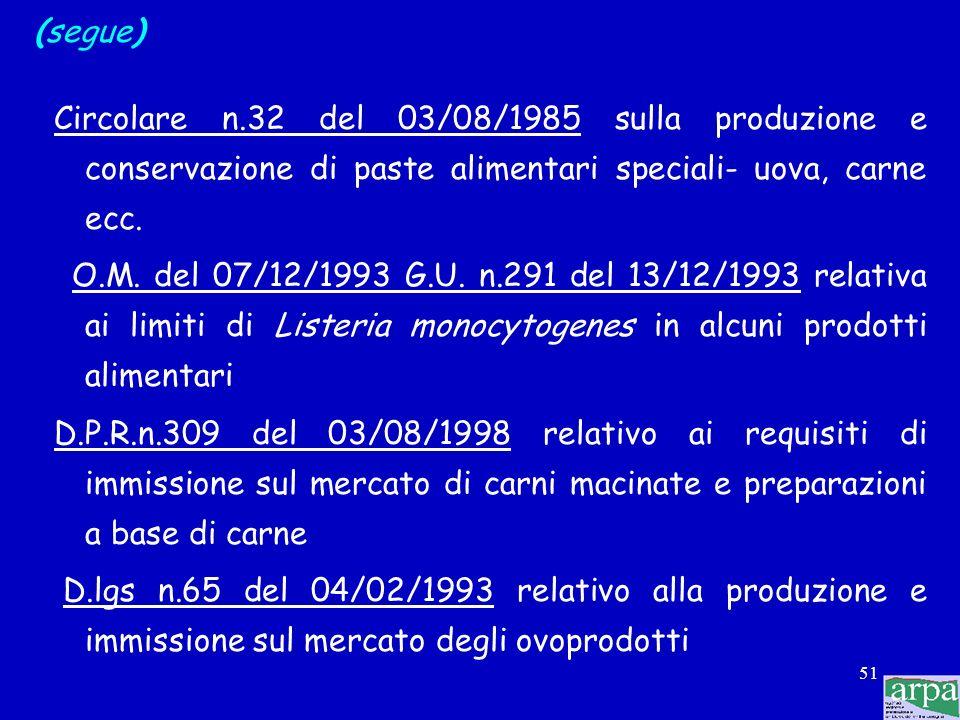 50 Valori target di riferimento Sono ricavati da: 1) norme italiane e/o europee: citano valori cogenti, da non superare che dovrebbero essere emanati