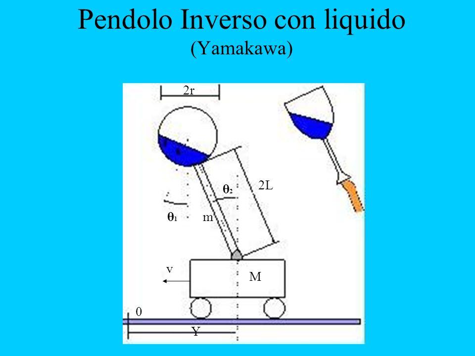 Pendolo Inverso con liquido (Yamakawa) 2r v Y θ1θ1 θ2θ2 2L 0 M m