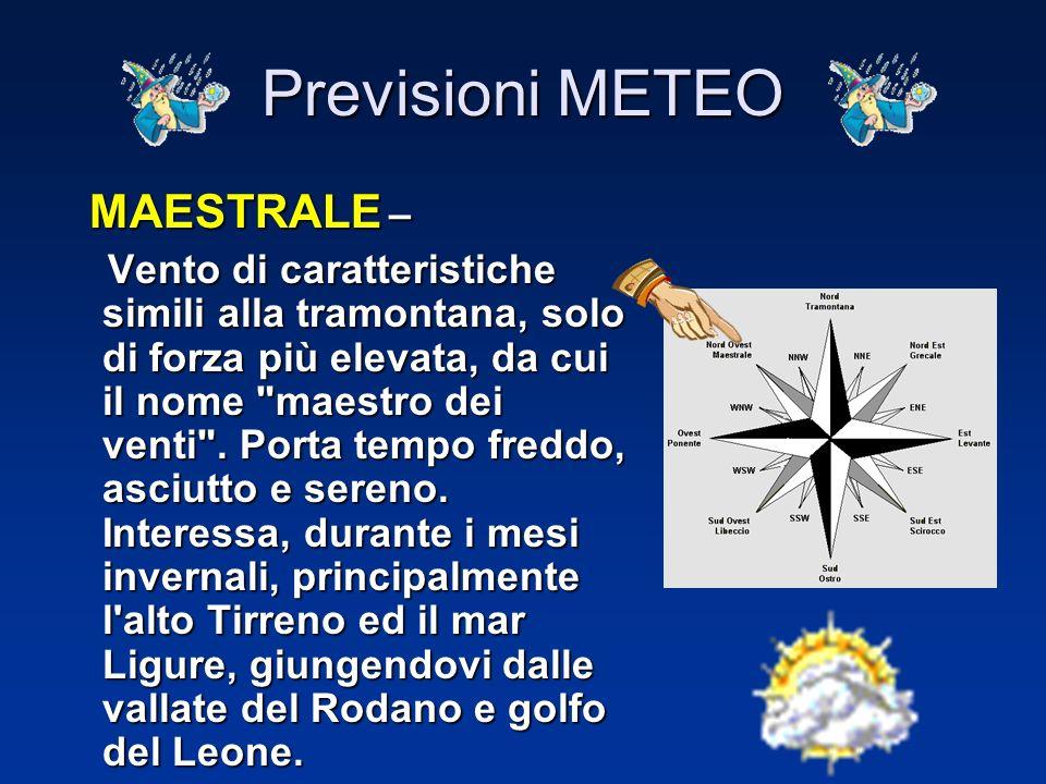 Previsioni METEO LIBECCIO – LIBECCIO – Vento molto particolare perché, pur essendo un vento di mare, ha poche caratteristiche di tali venti. Generalme