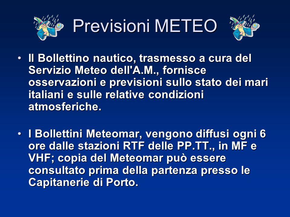 Il Bollettino del Mare viene trasmesso da Radiodue, alle 07.00,15.30 e 22.30 ci fornisce notizie specifiche riguardati tutti i bacini italiani e compr