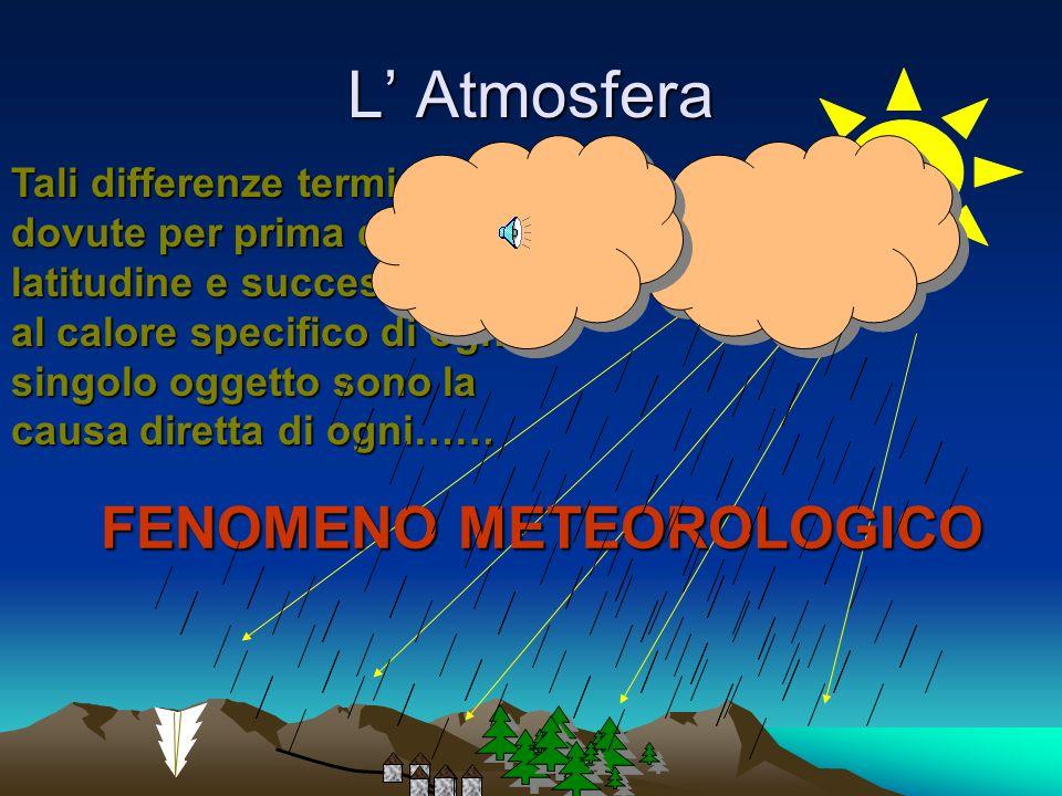 L Atmosfera Inoltre la natura risponde in modo molto diverso anche alla stessa latitudine Le zone umide o coperte da ricca vegetazione si riscaldano m