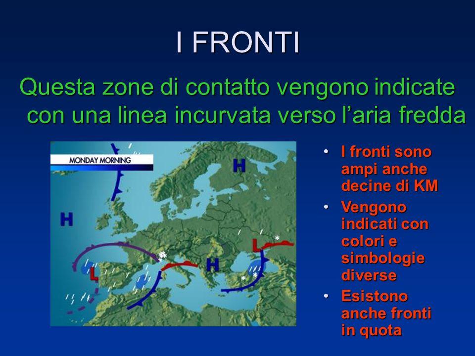 I FRONTI La zona di contatto tra la superficie frontale e il suolo viene chiamato FRONTE