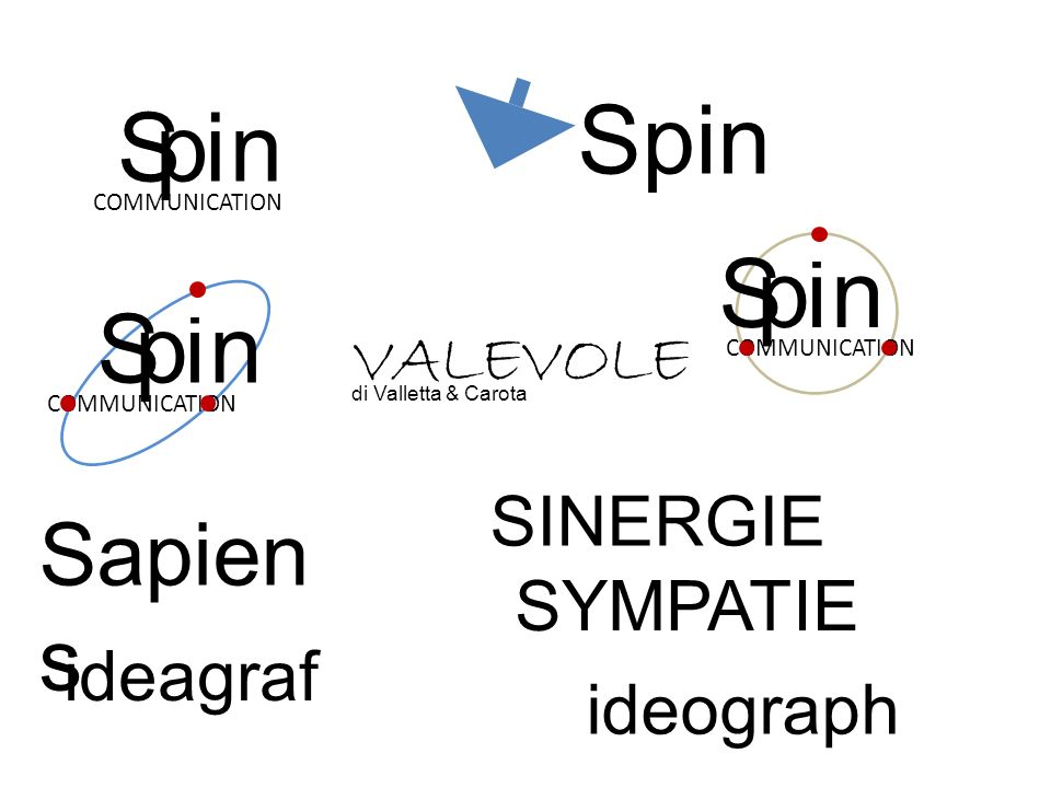 S COMMUNICATION Spin pin S COMMUNICATION pin S pin Sapien s ideagraf ideograph SINERGIE SYMPATIE VALEVOLE di Valletta & Carota