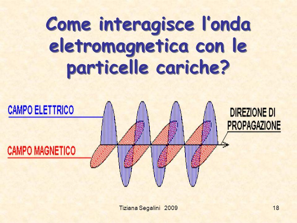 Come interagisce londa eletromagnetica con le particelle cariche? Tiziana Segalini 200918