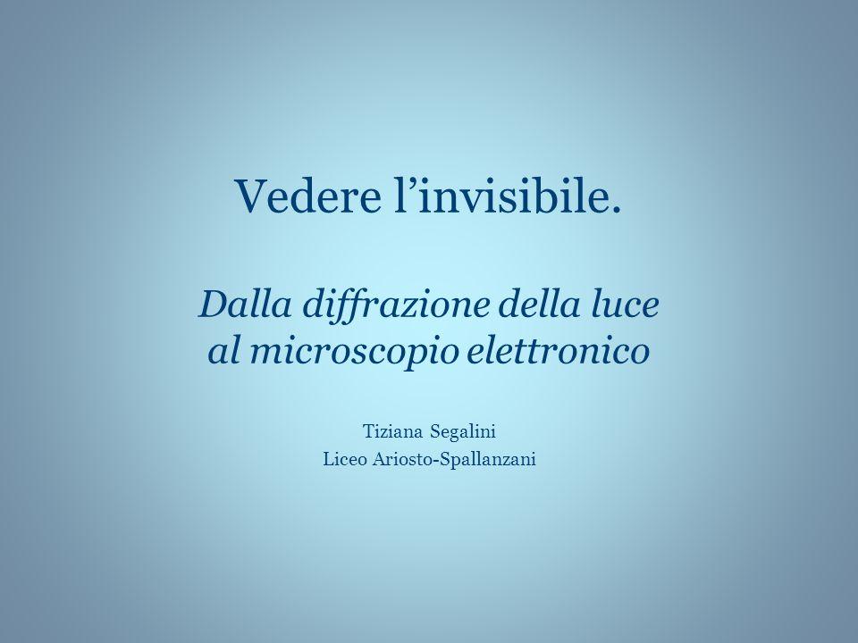 Vedere linvisibile. Dalla diffrazione della luce al microscopio elettronico Tiziana Segalini Liceo Ariosto-Spallanzani