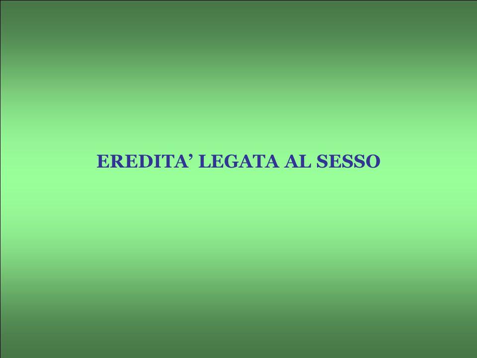EREDITA LEGATA AL SESSO