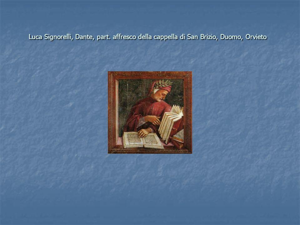 Luca Signorelli, Dante, part. affresco della cappella di San Brizio, Duomo, Orvieto