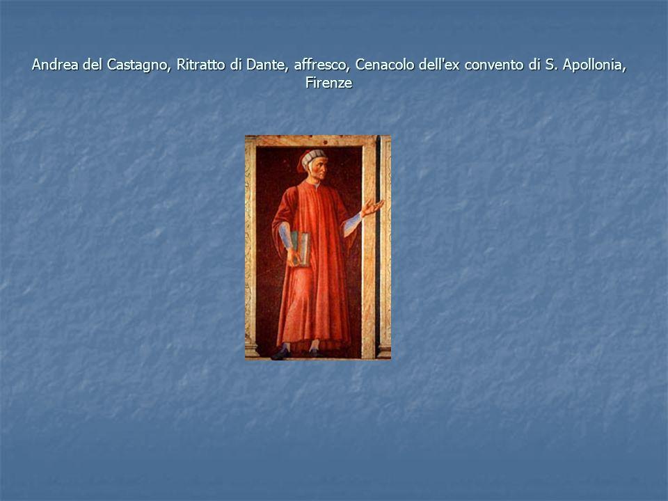 Andrea del Castagno, Ritratto di Dante, affresco, Cenacolo dell'ex convento di S. Apollonia, Firenze