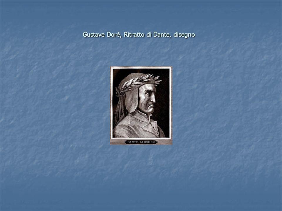 Gustave Dorè, Ritratto di Dante, disegno