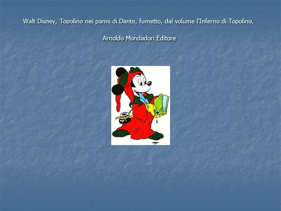 Walt Disney, Topolino nei panni di Dante, fumetto, dal volume l'Inferno di Topolino, Arnoldo Mondadori Editore
