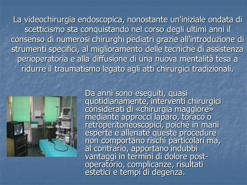 Da anni sono eseguiti, quasi quotidianamente, interventi chirurgici considerati di «chirurgia maggiore» mediante approcci laparo, toraco o retroperito