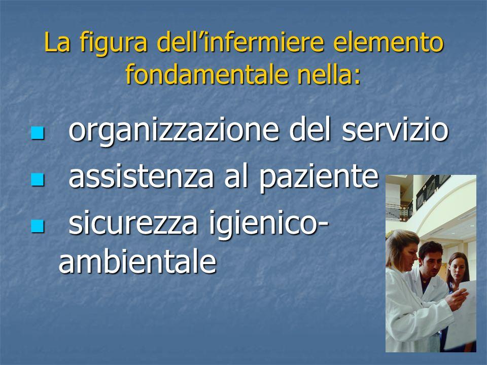 La figura dellinfermiere elemento fondamentale nella: organizzazione del servizio organizzazione del servizio assistenza al paziente assistenza al paz
