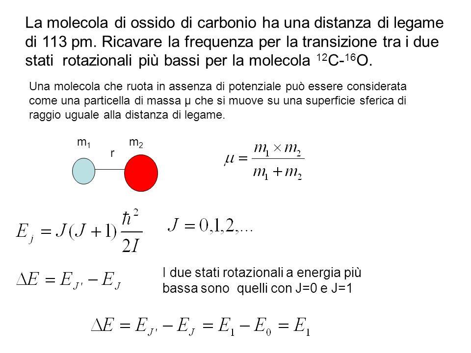 La molecola di ossido di carbonio ha una distanza di legame di 113 pm.